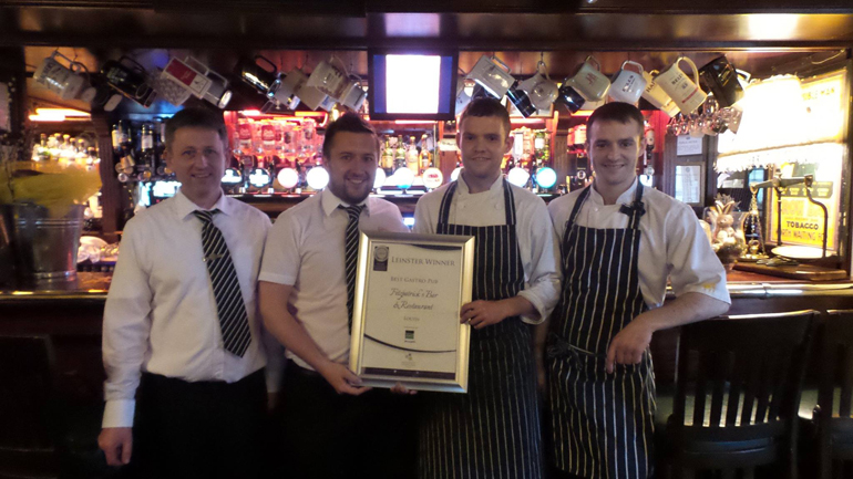 Fitzpatricks with their award for Best Gastro Pub Louth