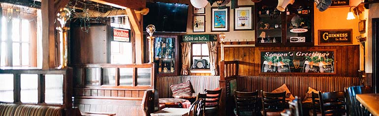 The comfortable and tradtional interior of the Shannronan bar