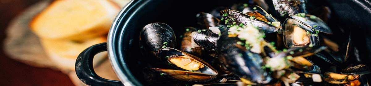 Fresh Muscles in Fitzpatricks Bar & Restaurant